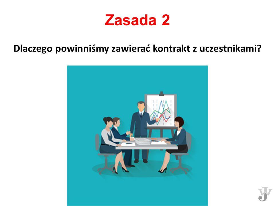 Zasada 2 Dlaczego powinniśmy zawierać kontrakt z uczestnikami?
