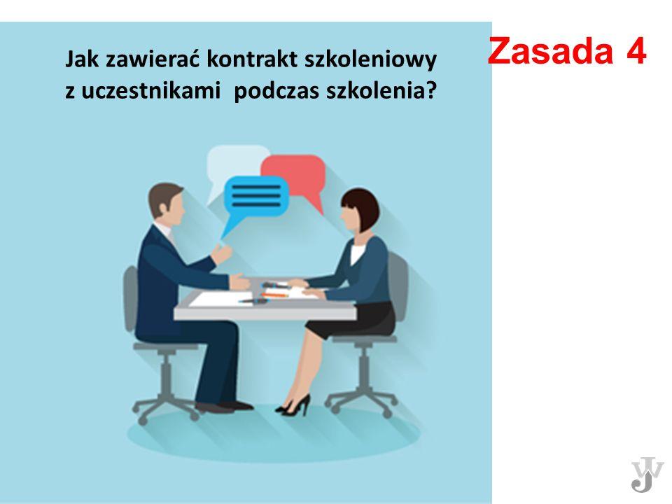 Zasada 4 Jak zawierać kontrakt szkoleniowy z uczestnikami podczas szkolenia?