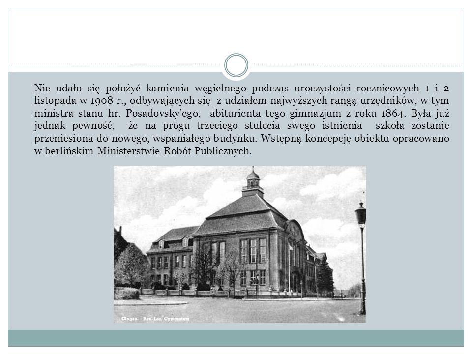 Nie udało się położyć kamienia węgielnego podczas uroczystości rocznicowych 1 i 2 listopada w 1908 r., odbywających się z udziałem najwyższych rangą u