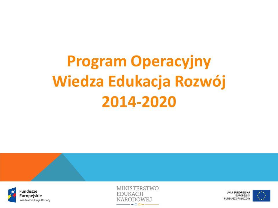 W ramach PO WER przewiduje się realizację projektów, których celem jest: poprawa funkcjonowania i zwiększenie wykorzystania systemu wspomagania szkół w zakresie kompetencji kluczowych uczniów niezbędnych do poruszania się na rynku pracy (ICT, matematyczno-przyrodniczych, języków obcych), nauczania eksperymentalnego, właściwych postaw (kreatywności, innowacyjności, pracy zespołowej) oraz metod zindywidualizowanego podejścia do ucznia.