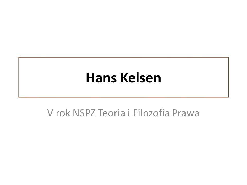 Hans Kelsen V rok NSPZ Teoria i Filozofia Prawa
