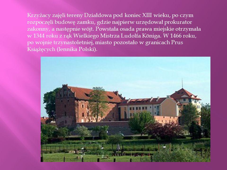 Krzyżacy zajęli tereny Działdowa pod koniec XIII wieku, po czym rozpoczęli budowę zamku, gdzie najpierw urzędował prokurator zakonny, a następnie wójt