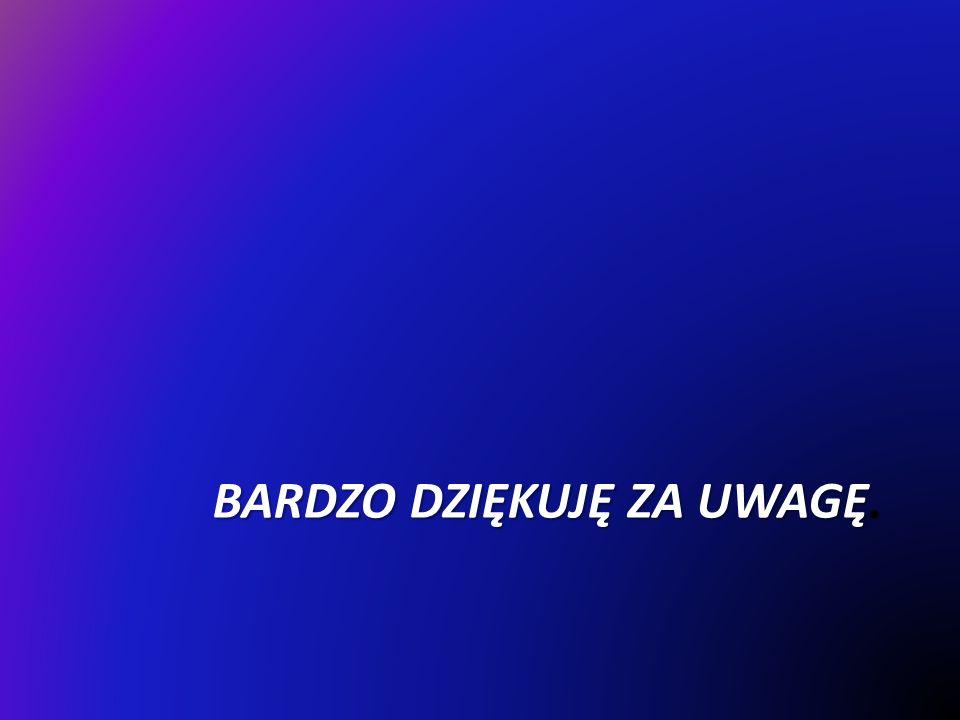 BARDZO DZIĘKUJĘ ZA UWAGĘ.