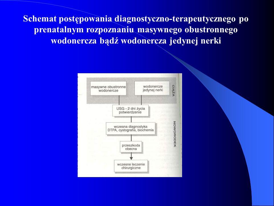 Schemat postępowania diagnostyczno-terapeutycznego po prenatalnym rozpoznaniu masywnego obustronnego wodonercza bądź wodonercza jedynej nerki