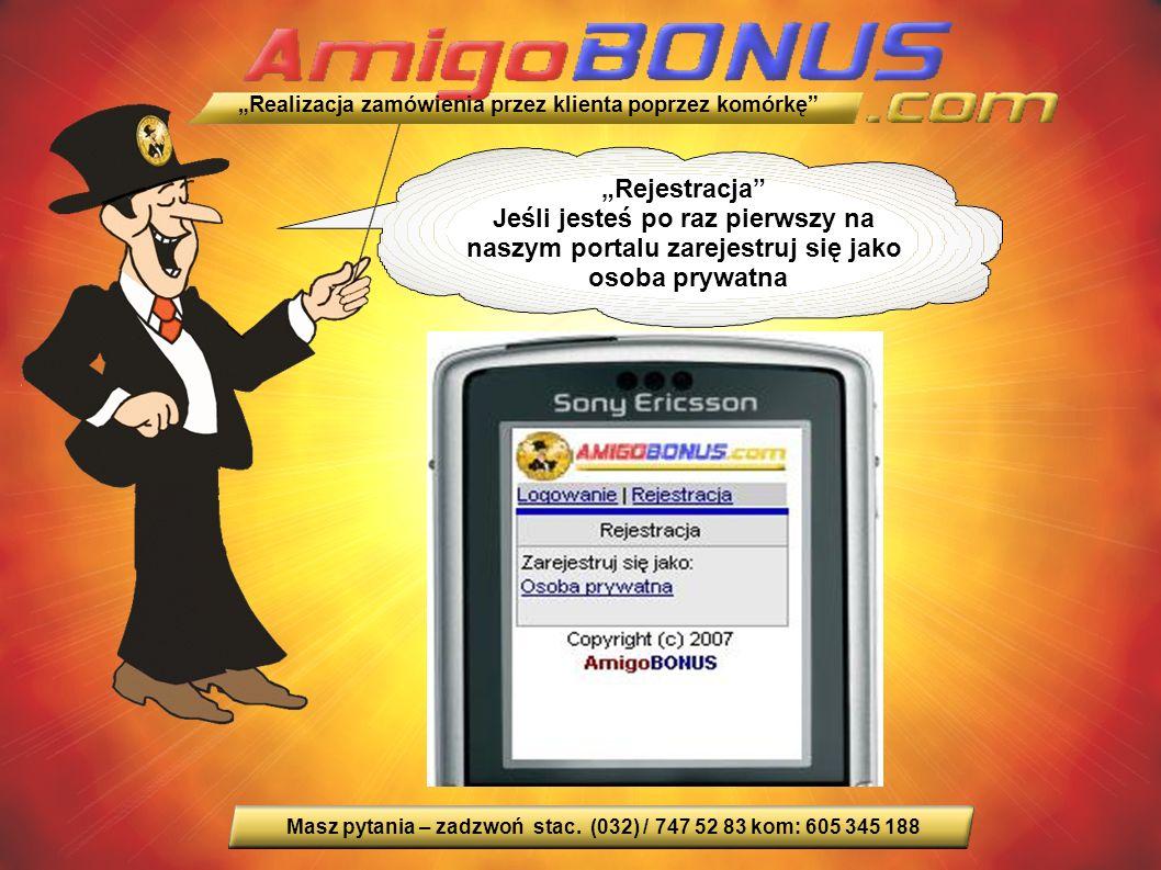 """""""Rejestracja Jeśli jesteś po raz pierwszy na naszym portalu zarejestruj się jako osoba prywatna Masz pytania – zadzwoń stac."""