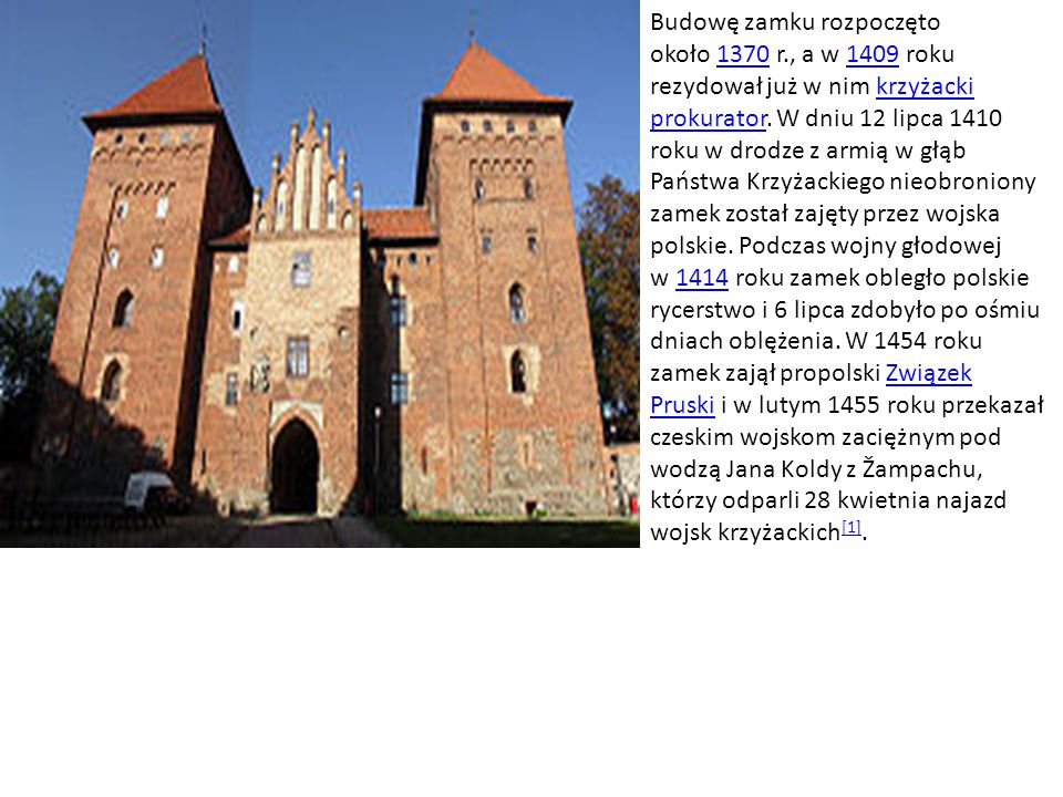 Zamek w Malborku jest jednym wielkim średniowiecznym założeniem obronnym, wzniesionym przez Zakon Szpitala Najświętszej Panny Marii Domu Niemieckiego w Jerozolimie w okresie od XIII po XV w.