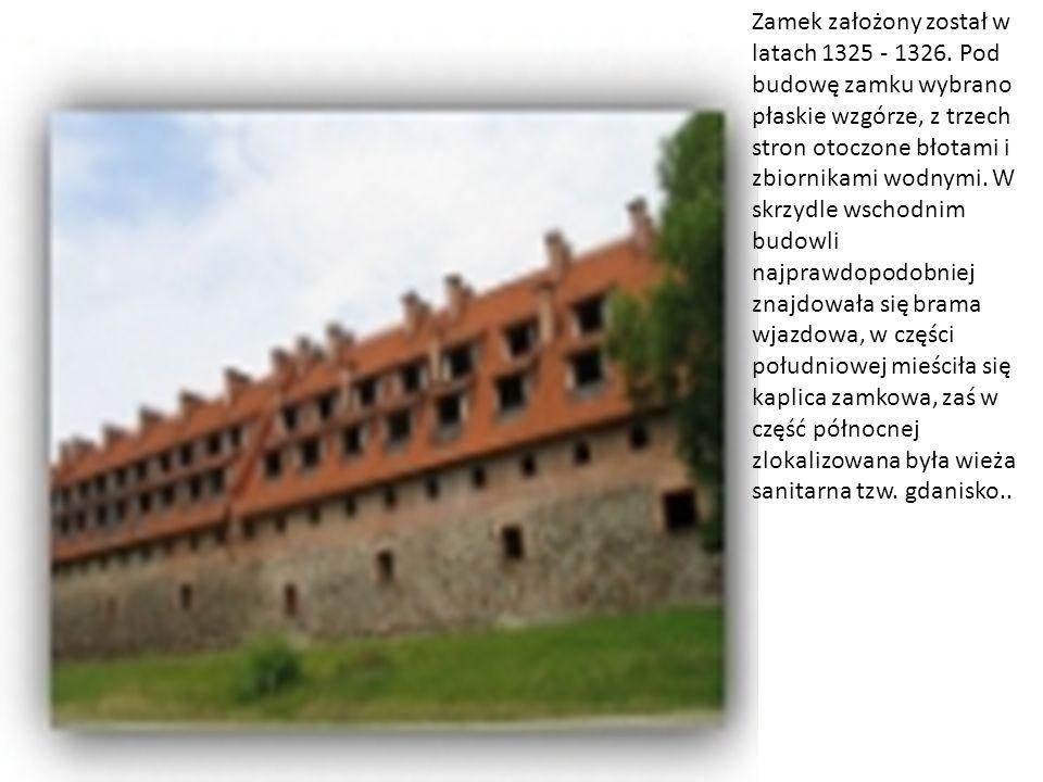 Zamek założony został w latach 1325 - 1326. Pod budowę zamku wybrano płaskie wzgórze, z trzech stron otoczone błotami i zbiornikami wodnymi. W skrzydl