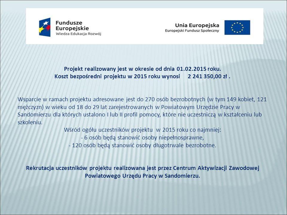 Projekt realizowany jest w okresie od dnia 01.02.2015 roku.