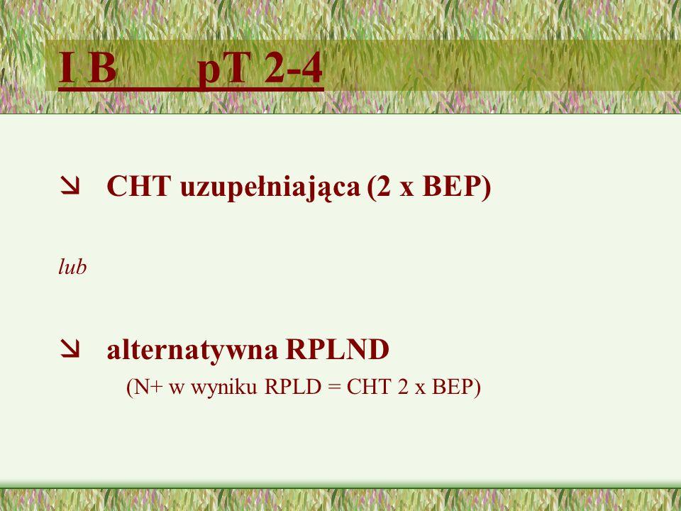 I B pT 2-4 æ CHT uzupełniająca (2 x BEP) lub æ alternatywna RPLND (N+ w wyniku RPLD = CHT 2 x BEP)