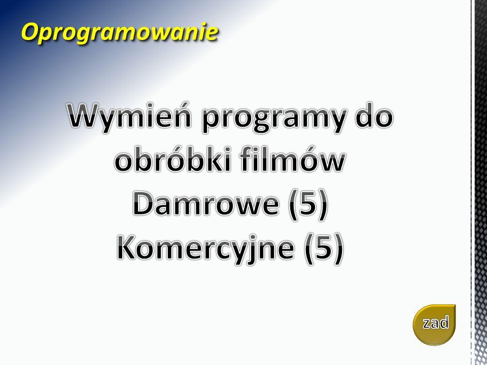 OprogramowanieOprogramowanie