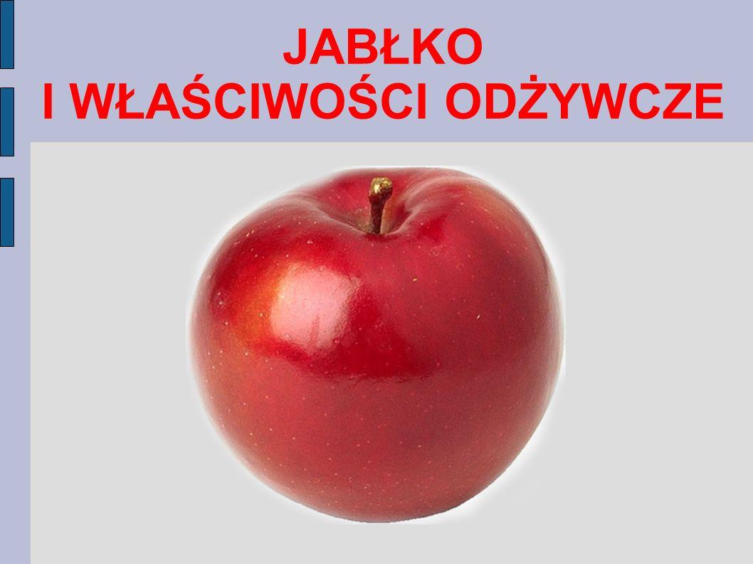 RÓŻNE RODZAJE JABŁEK Jabłka różnią się od siebie kształtem, kolorem i smakiem zależy to od gatunku jabłka