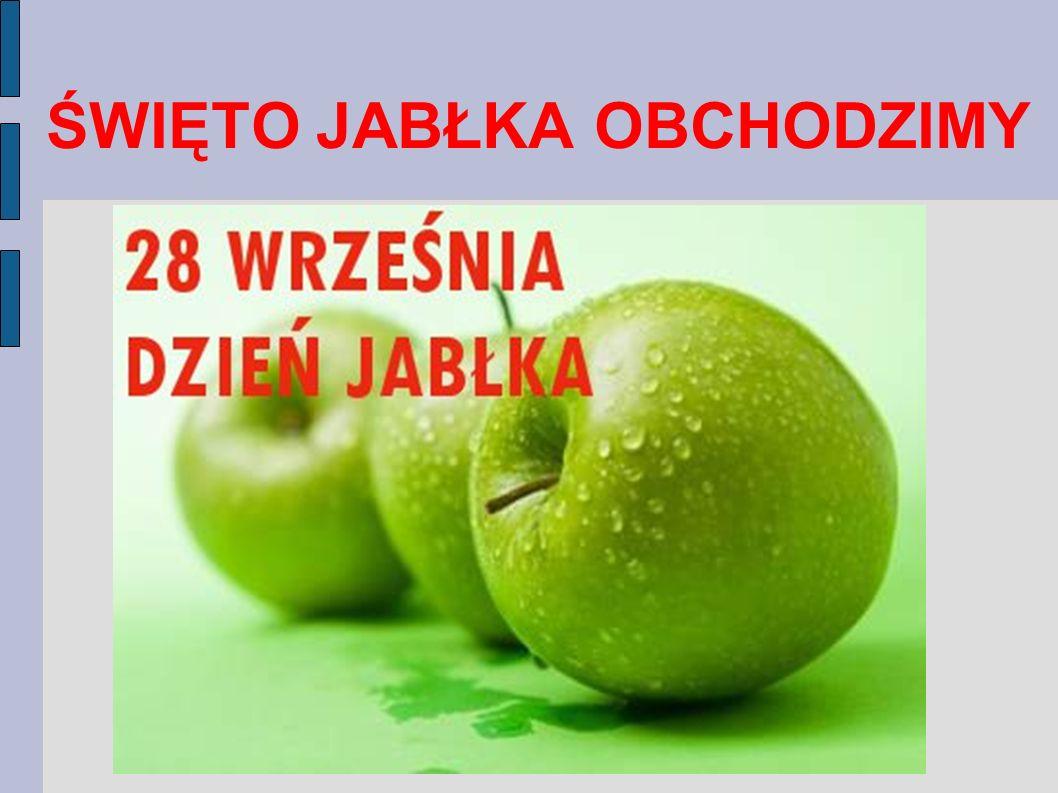 Należy jeść przynajmniej jedno jabłko dziennie i rozkoszować się naszym najbardziej znanym polskim owocem !!!
