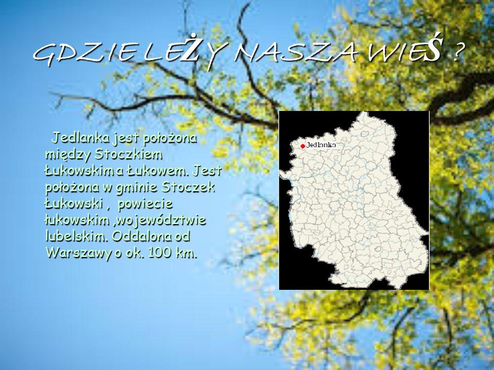 Historia naszej wsi ej wsi Jedlanka powstała w pierwszej połowie XVI wieku.
