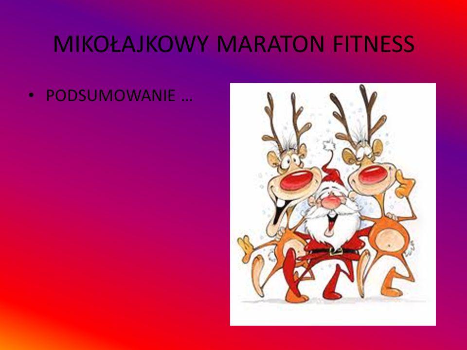 Maraton odbył się 10.12.2015 W czasie maratonu można było zapoznać się z wybranymi formami fitness: Klasyczna lekcja Hi – Low oraz salsafit Zumba Body Shape Body therapist