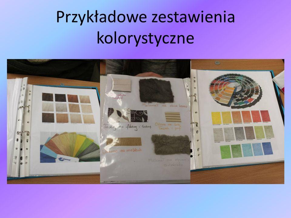 Przykładowe zestawienia kolorystyczne