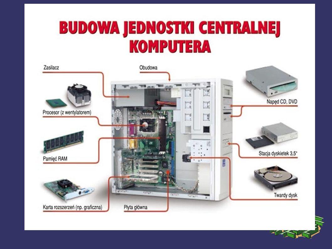 Obudowa Obudowa komputera to najczęściej metalowa (stalowa lub aluminiowa) z elementami plastikowymi zamknięta skrzynka w formie prostopadłościanu, umożliwiająca umieszczenie i zamocowanie najważniejszych elementów komputera.