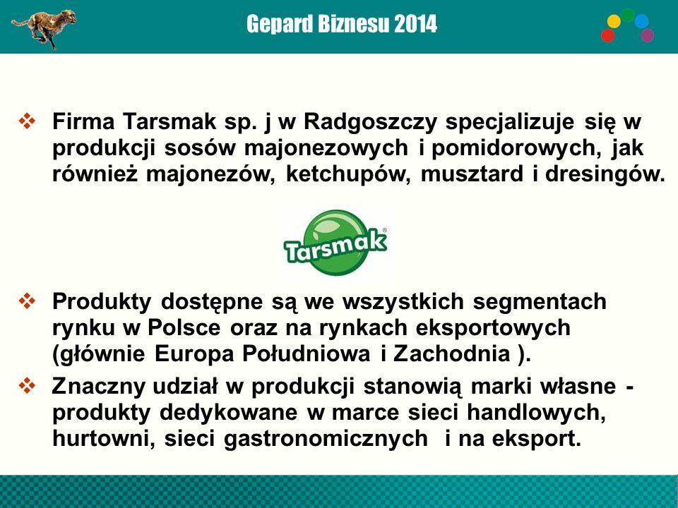 Gepard Biznesu 2014  Firma Tarsmak sp.