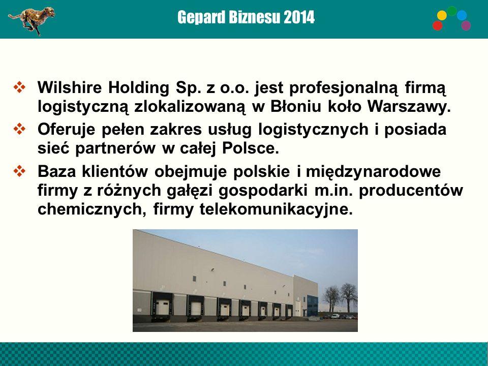 Gepard Biznesu 2014  Wilshire Holding Sp. z o.o.