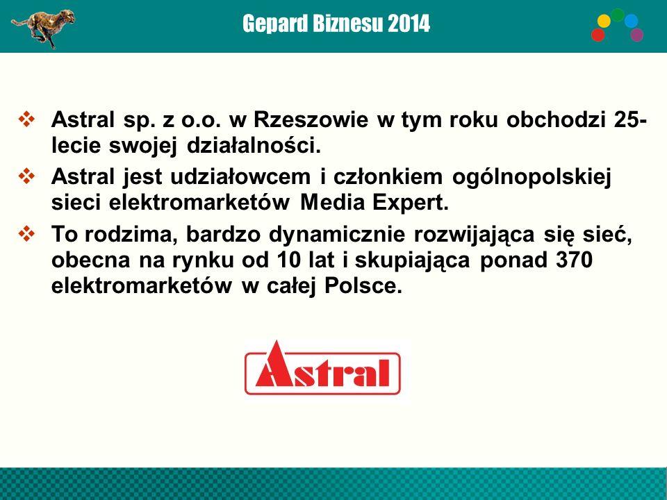 Gepard Biznesu 2014  Astral sp. z o.o.