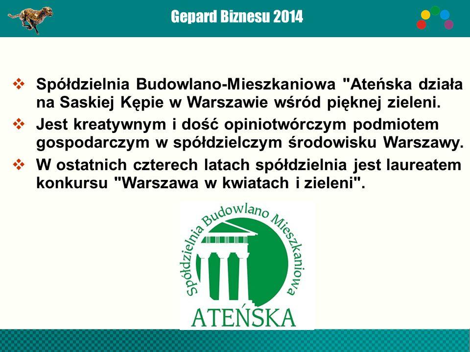 Spółdzielnia Budowlano-Mieszkaniowa Ateńska działa na Saskiej Kępie w Warszawie wśród pięknej zieleni.