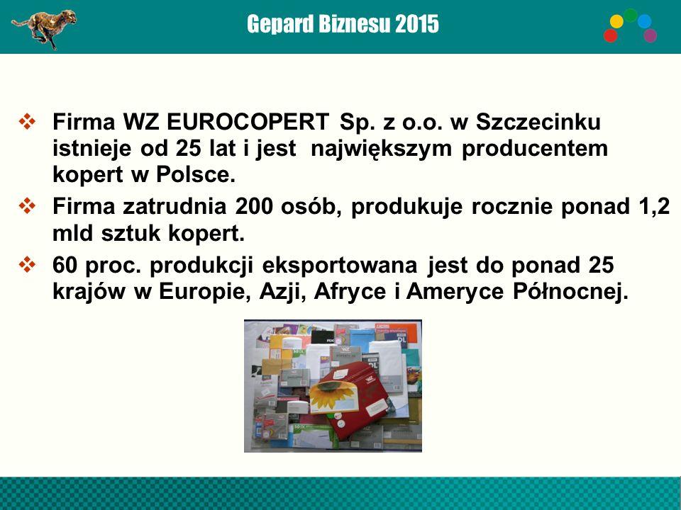Gepard Biznesu 2015  Firma WZ EUROCOPERT Sp. z o.o.