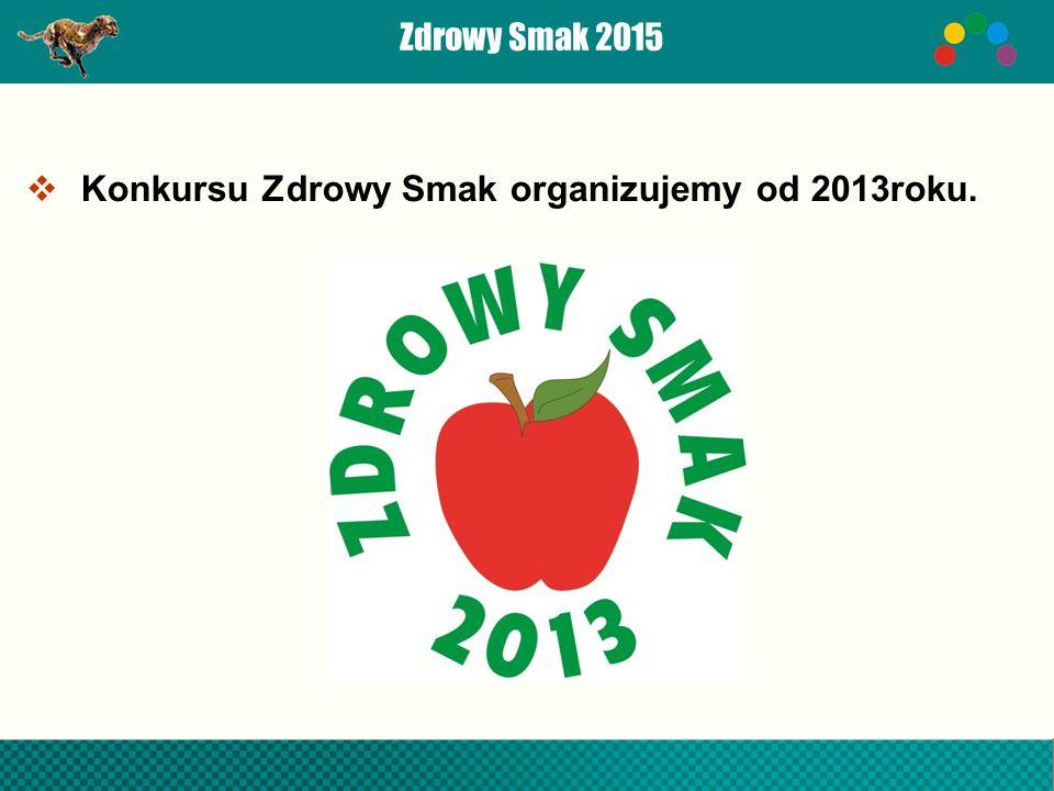 Zdrowy Smak 2015  Konkursu Zdrowy Smak organizujemy od 2013roku.