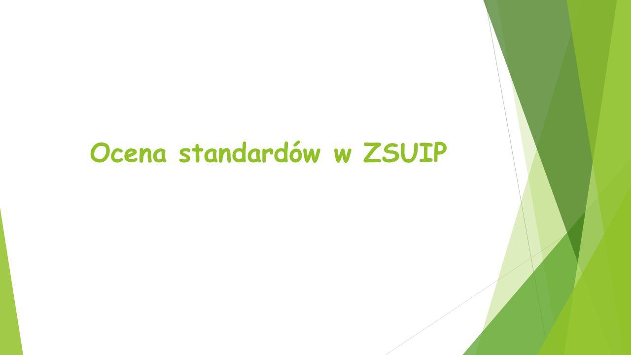 Ocena standardów w ZSUIP