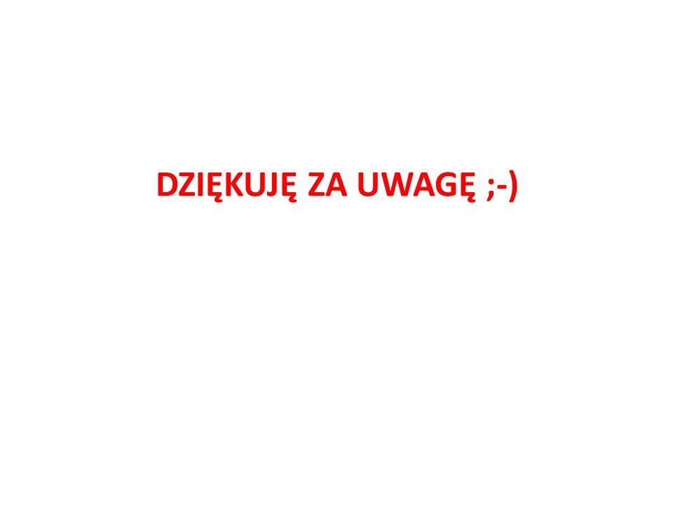 DZIĘKUJĘ ZA UWAGĘ ;-)