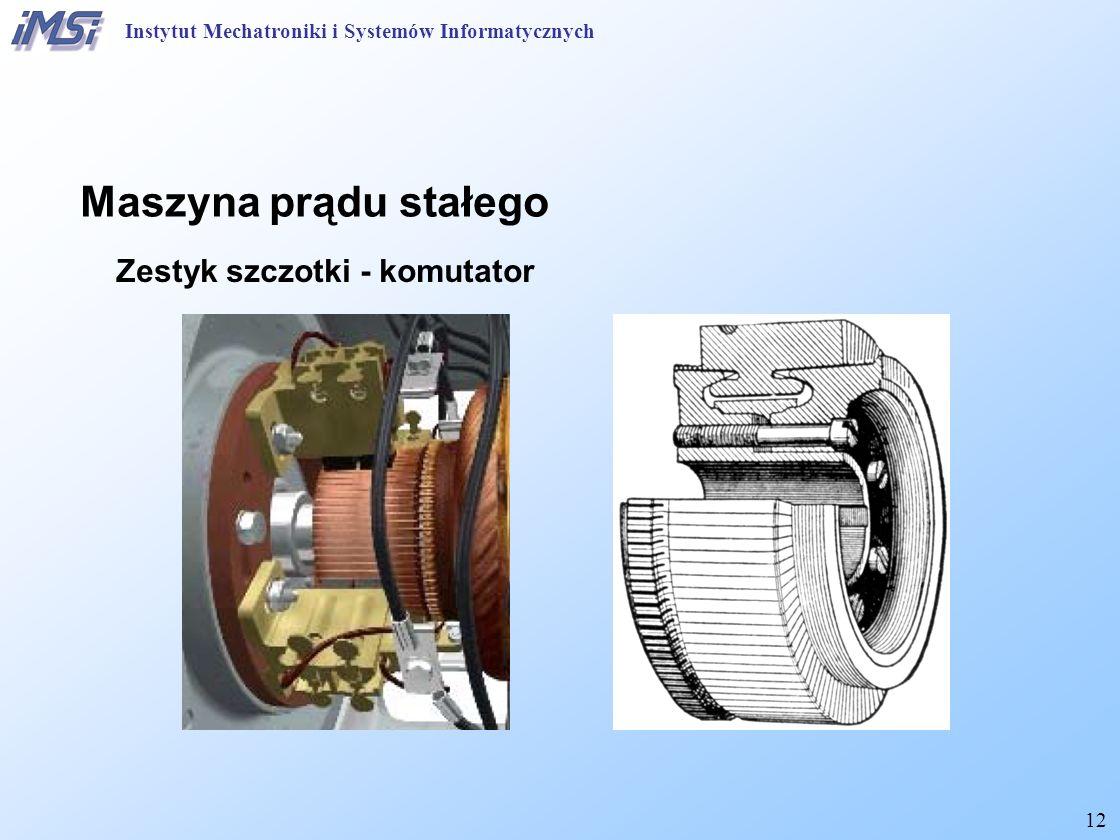 12 Maszyna prądu stałego Zestyk szczotki - komutator Instytut Mechatroniki i Systemów Informatycznych