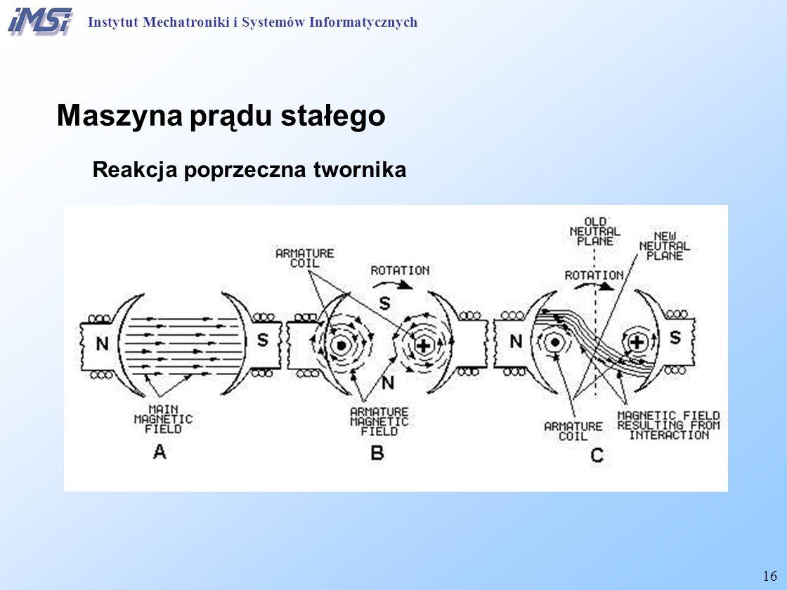 16 Maszyna prądu stałego Reakcja poprzeczna twornika Instytut Mechatroniki i Systemów Informatycznych