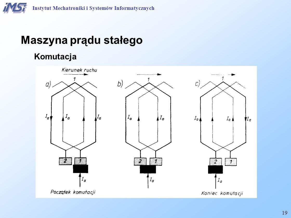 19 Instytut Mechatroniki i Systemów Informatycznych Maszyna prądu stałego Komutacja