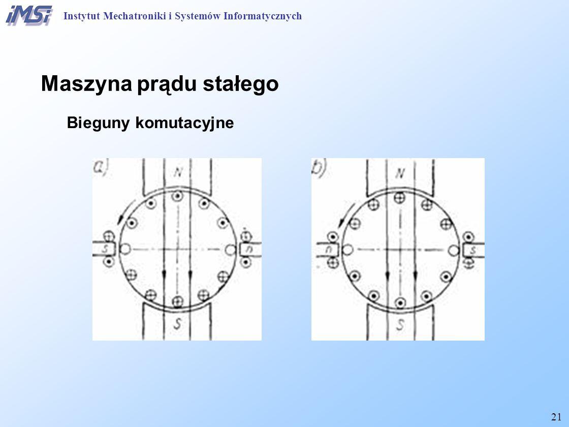 21 Maszyna prądu stałego Bieguny komutacyjne Instytut Mechatroniki i Systemów Informatycznych