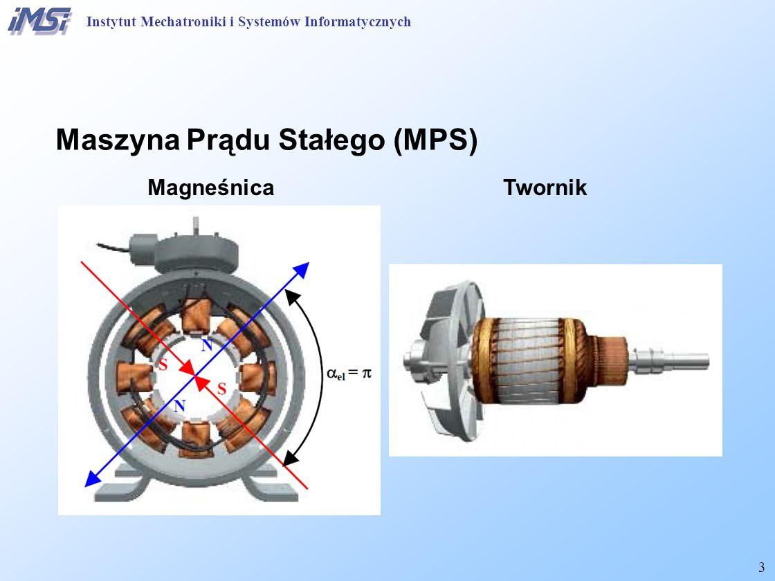 4 Budowa maszyny prądy stałego Instytut Mechatroniki i Systemów Informatycznych