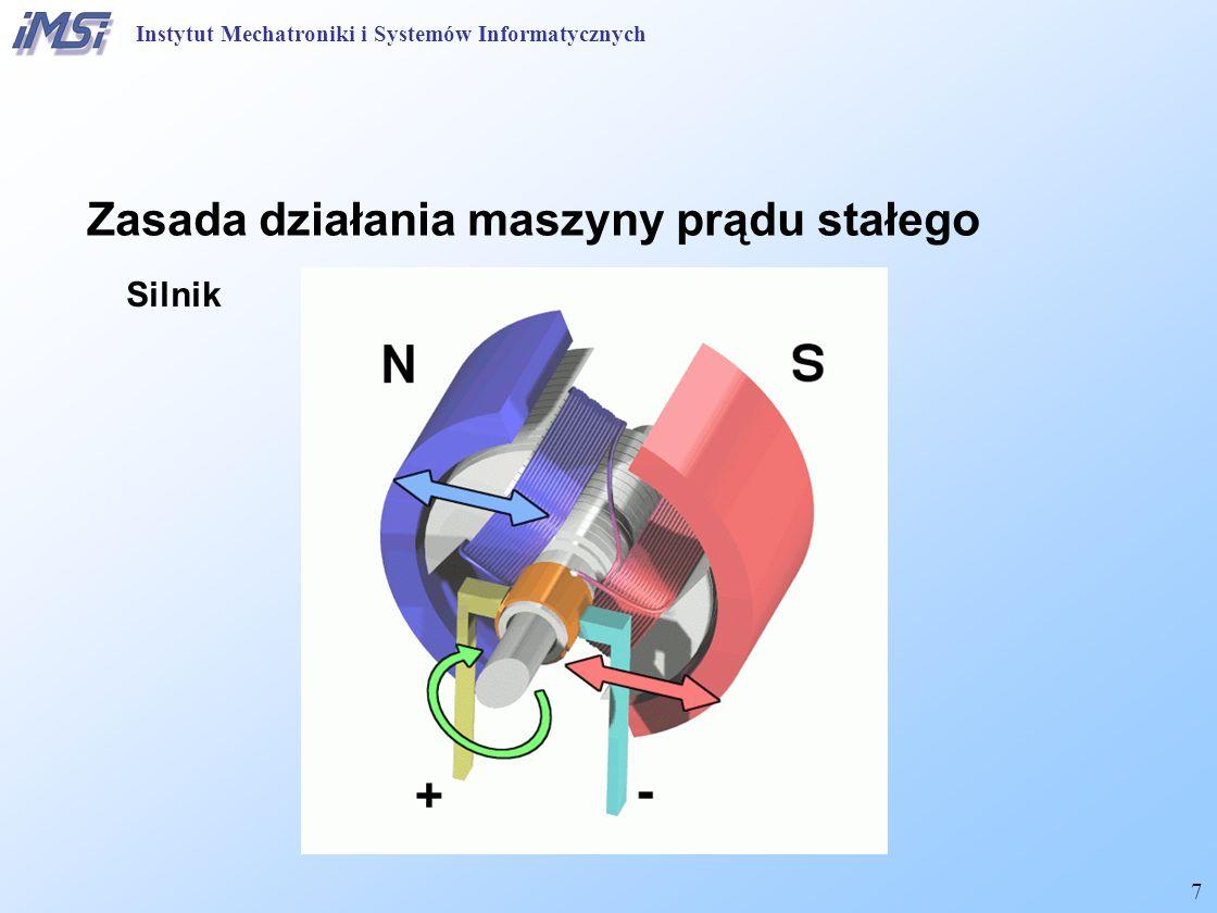 28 Maszyna prądu stałego Równania obwodowe - prądnica Bieg jałowy Obciążenie Instytut Mechatroniki i Systemów Informatycznych