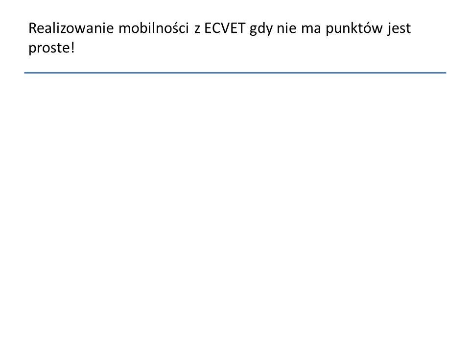 Realizowanie mobilności z ECVET gdy nie ma punktów jest proste!