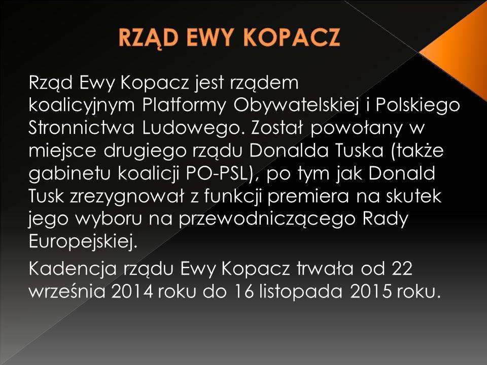 Rząd Ewy Kopacz jest rządem koalicyjnym Platformy Obywatelskiej i Polskiego Stronnictwa Ludowego.
