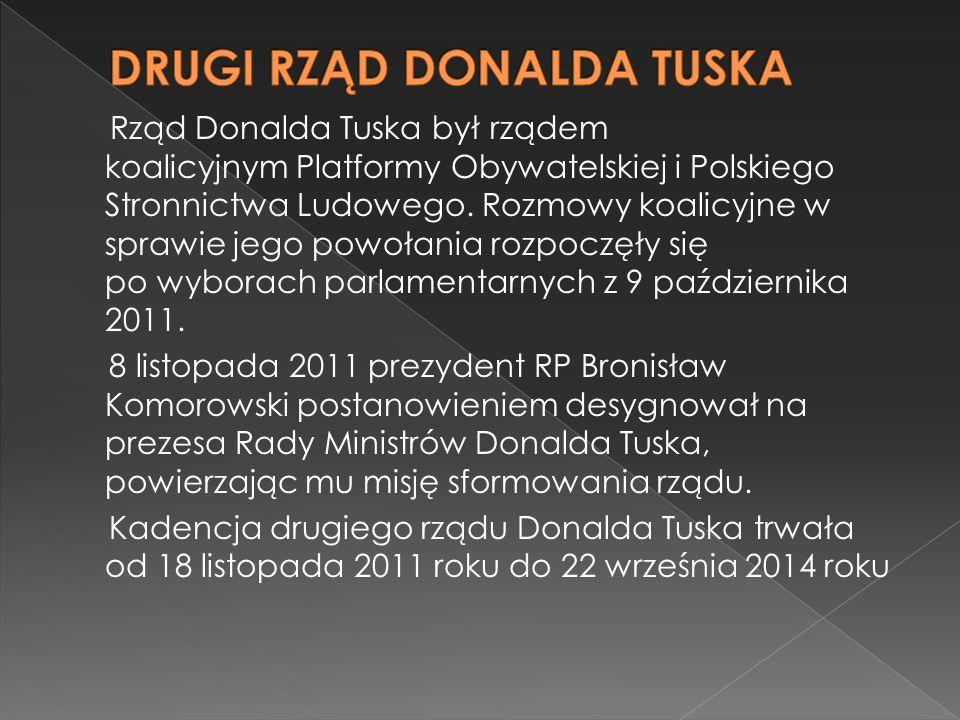 Rząd Donalda Tuska był rządem koalicyjnym Platformy Obywatelskiej i Polskiego Stronnictwa Ludowego.