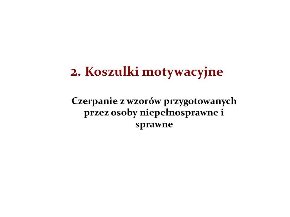 2. Koszulki motywacyjne Czerpanie z wzorów przygotowanych przez osoby niepełnosprawne i sprawne