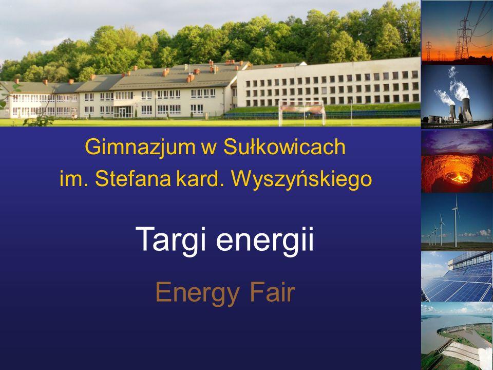 Gimnazjum w Sułkowicach im. Stefana kard. Wyszyńskiego Targi energii Energy Fair
