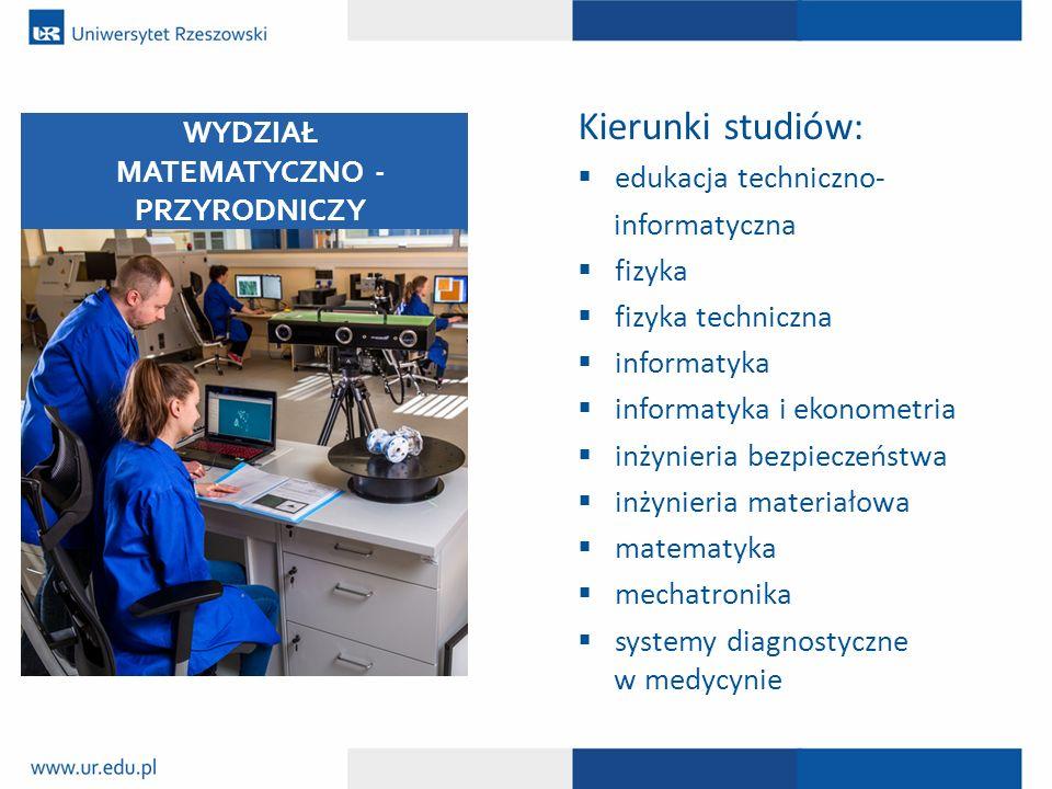 Kierunki studiów:  edukacja techniczno- informatyczna  fizyka  fizyka techniczna  informatyka  informatyka i ekonometria  inżynieria bezpieczeńs