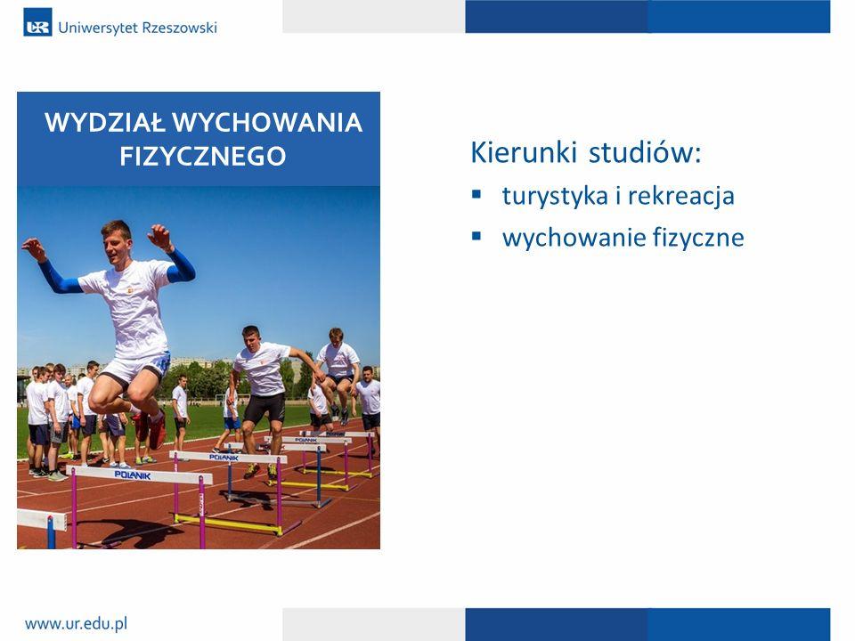 Kierunki studiów:  turystyka i rekreacja  wychowanie fizyczne WYDZIAŁ WYCHOWANIA FIZYCZNEGO