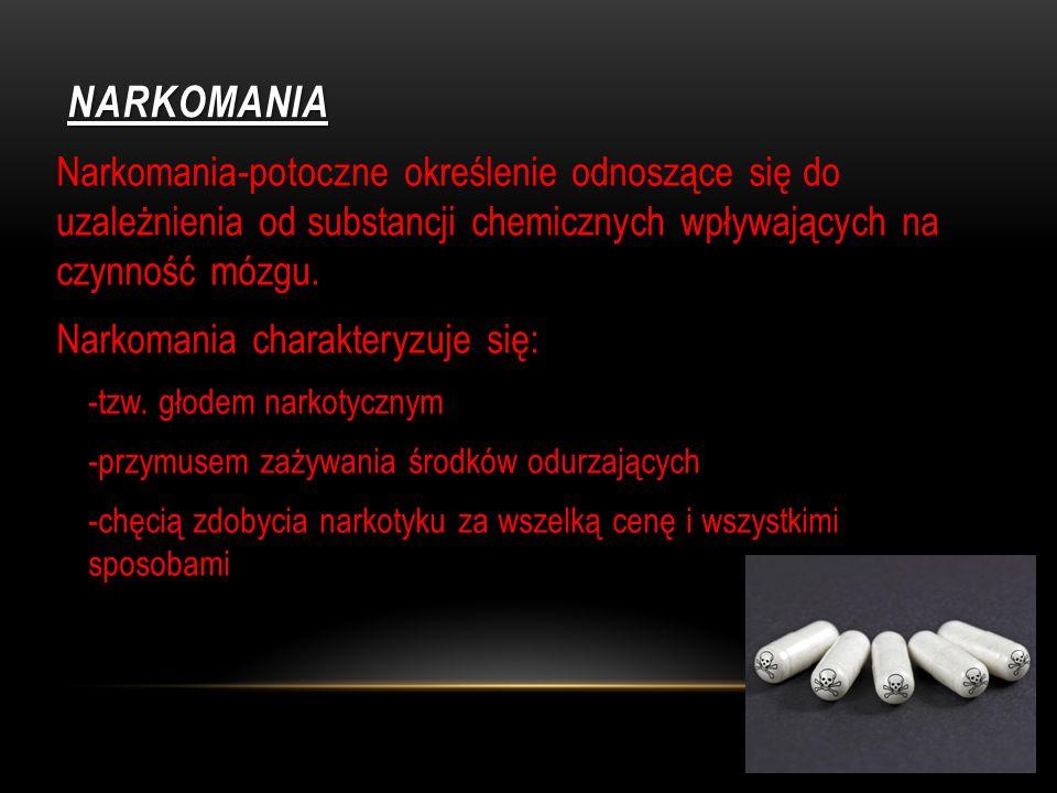 SKĄD SIĘ BIORĄ NARKOTYKI Narkotyki, takie jak marihuana i heroina są pochodzenia roślinnego. Inne narkotyki są sztucznie wytwarzane w laboratoriach. S