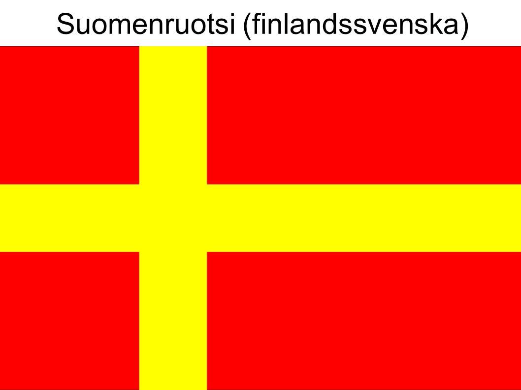Suomenruotsi (finlandssvenska)