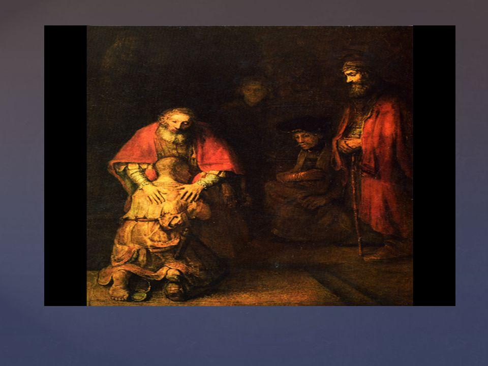 "  Rembrandt van Rijn ""Powrót syna marnotrawnego ok."