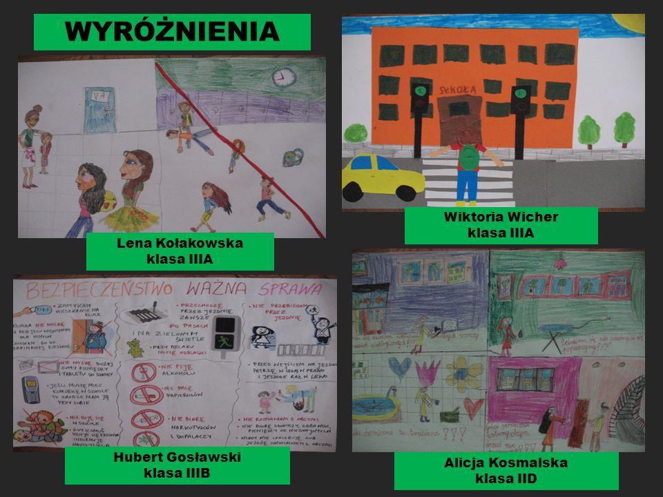 II miejsce Natalia Zych klasa IIA III miejsce Błażej Morawski klasa IIIA III miejsce Wiktoria Czerwczak klasa IIIB