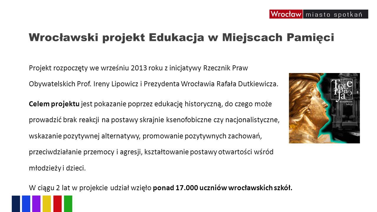 Wrocławski projekt Edukacja w Miejscach Pamięci Projekt rozpoczęty we wrześniu 2013 roku z inicjatywy Rzecznik Praw Obywatelskich Prof.