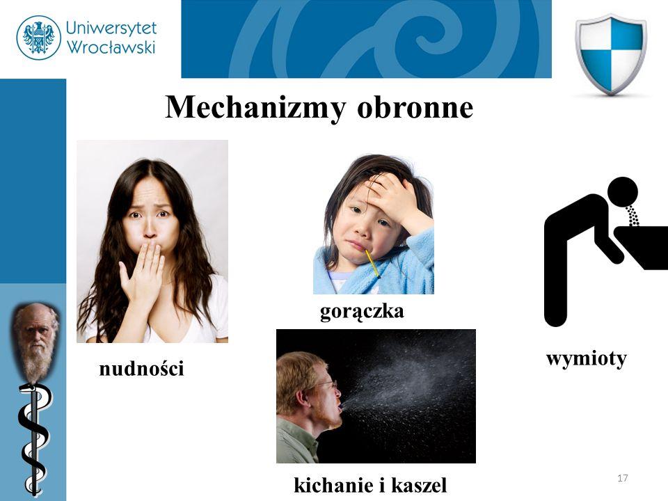 17 Mechanizmy obronne nudności gorączka kichanie i kaszel wymioty