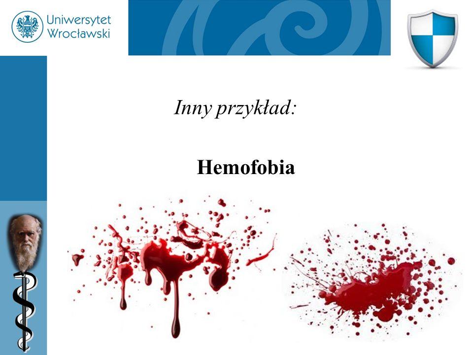 41 Inny przykład: Hemofobia