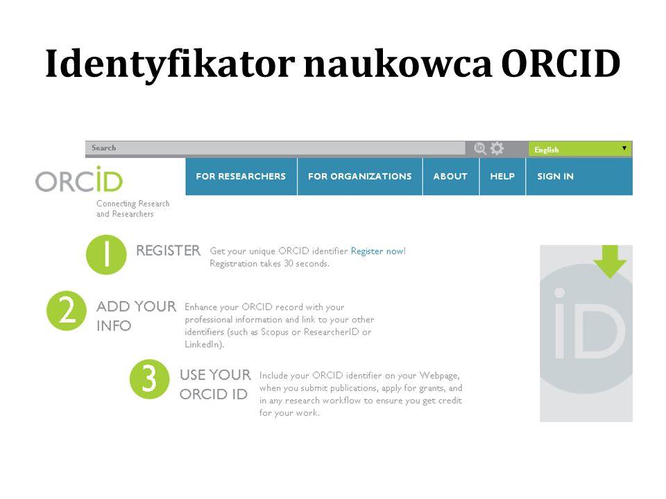 Identyfikator naukowca ORCID
