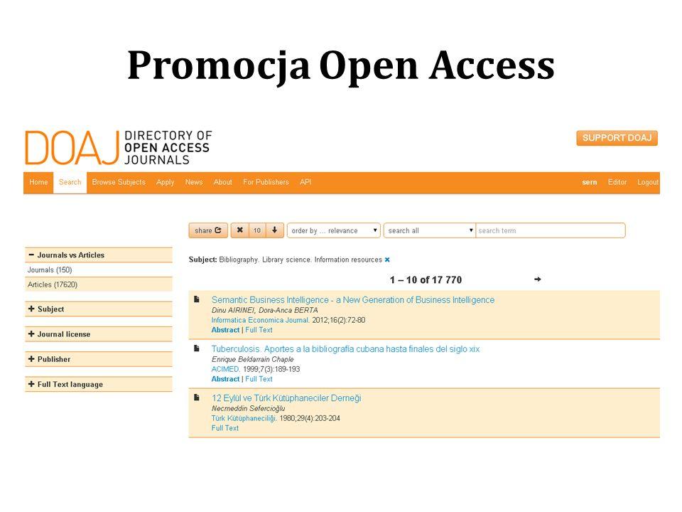 Promocja Open Access